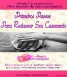 Primeiros passos para restaurar seu casamento-Lançamento do E-book