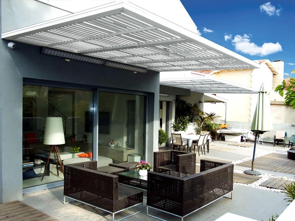 White profile 24 patio pergola