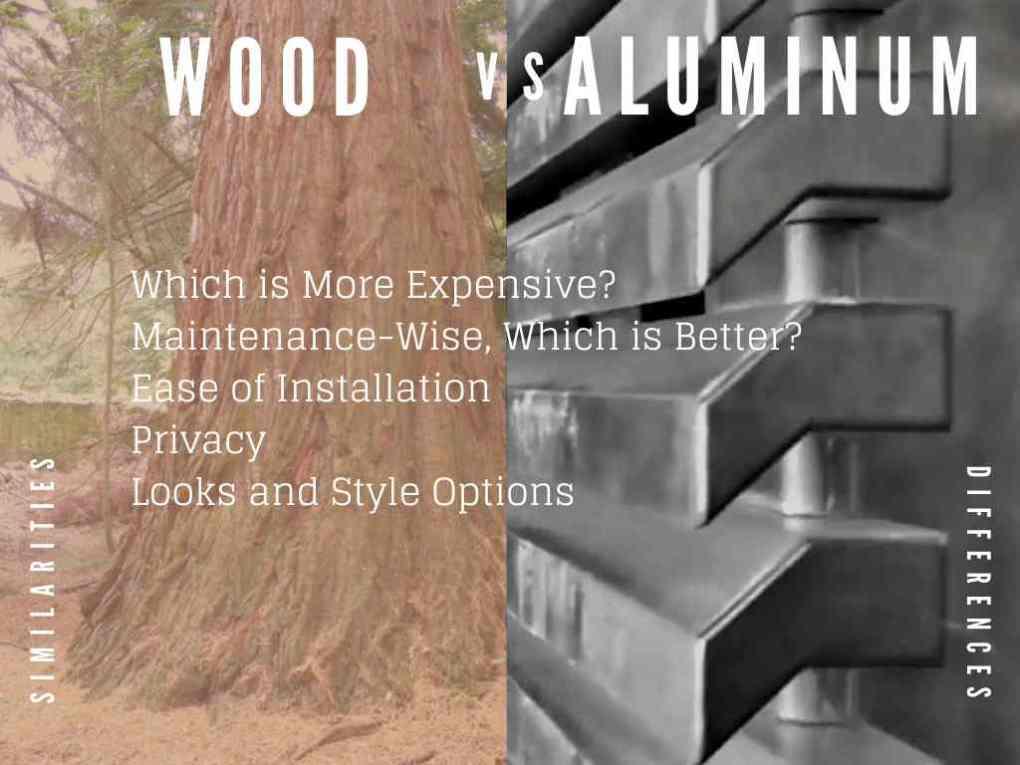 wood versus aluminum best for fencing