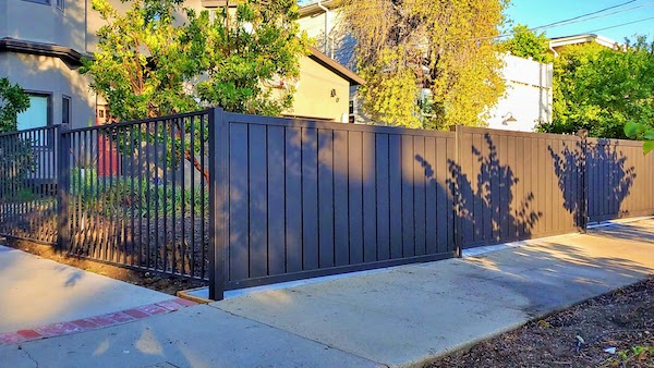 Both the private and the a variation of the Traditional Style of aluminum fence