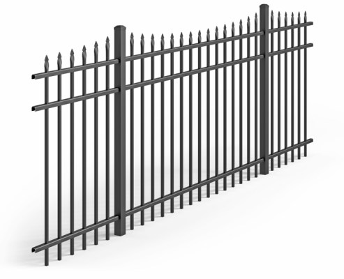a variation of the Traditional Style of aluminum fence