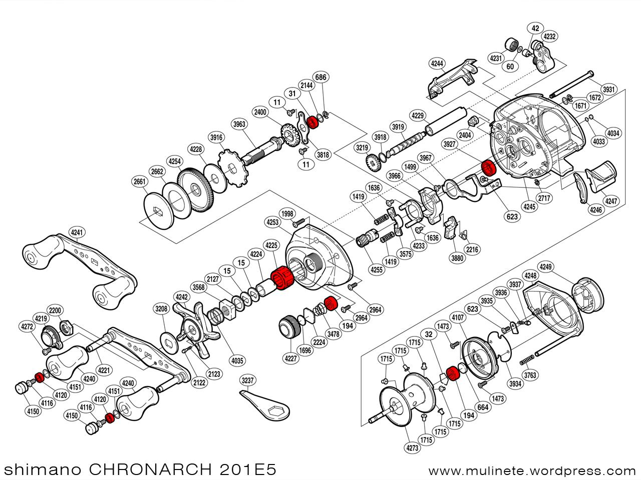 Spinning Reel Schematics