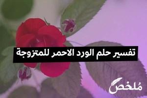 تفسير حلم الورد الاحمر للمتزوجة