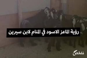 رؤية الماعز الاسود في المنام لابن سيرين