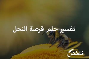 تفسير حلم قرصة النحل