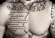 Tatuagens masculinas de frases