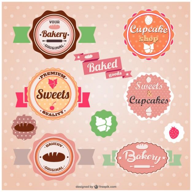 Logos para confeitaria, padaria e doceria