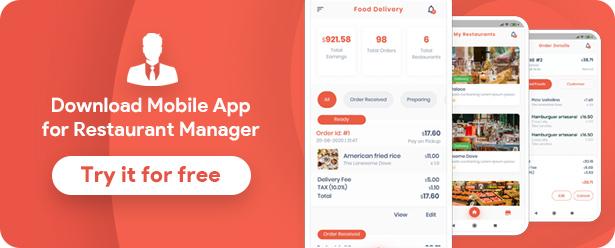 Food Delivery Flutter + PHP Laravel Admin Panel - 18