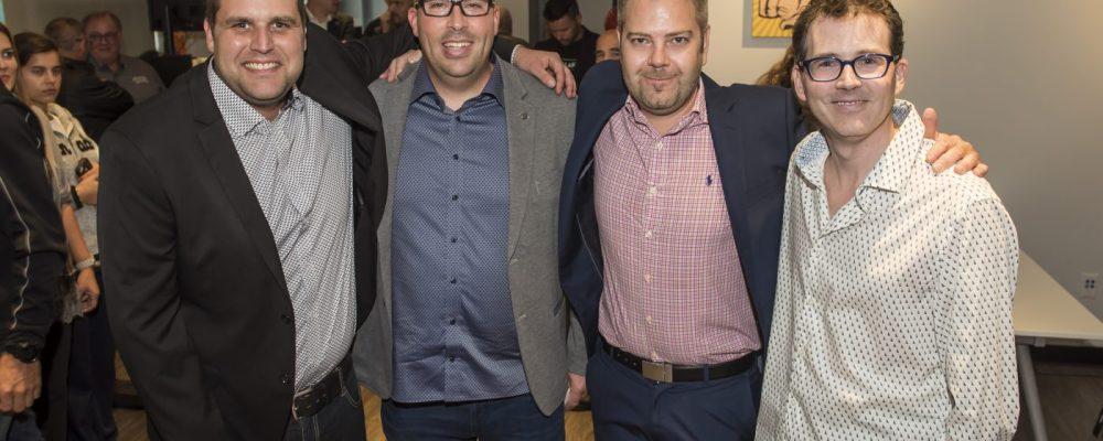 Patrick Jutras (PMC Mécanique), Yannick Plante, Pascal Boutin, Benoit St-André