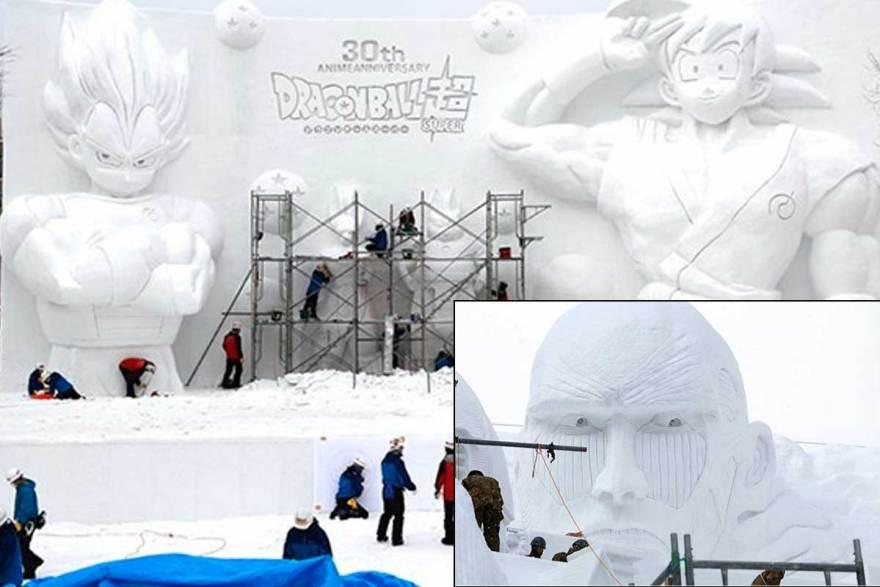 dragon-bal-sapporo-shingeki-2016-snow-nieve