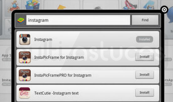 DM sur Instagram sur PC