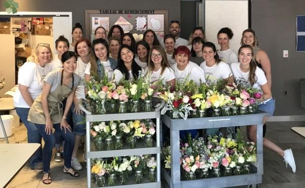 Les employé(e)s de L'Oréal Canada sont venus embellir les locaux chez MultiCaf
