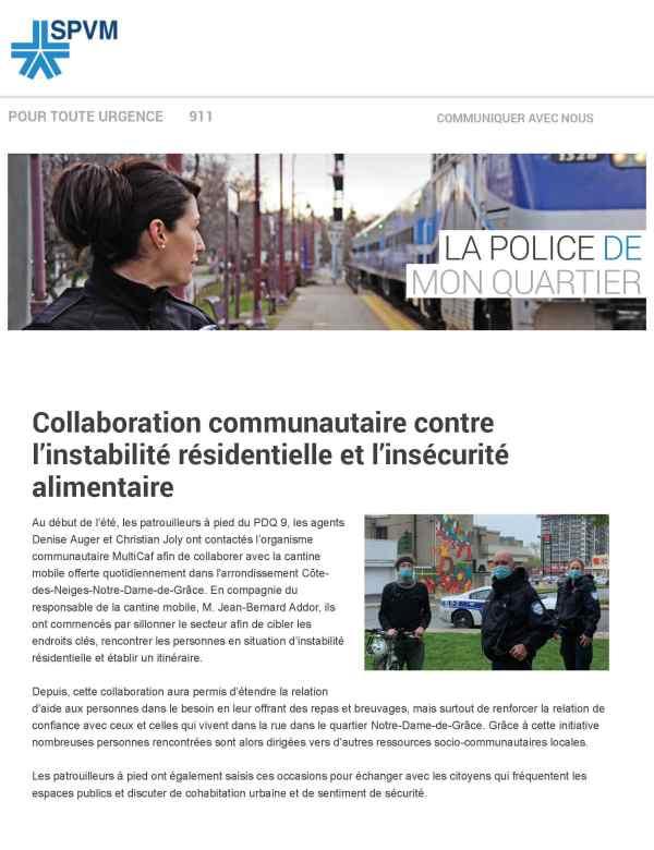 Collaboration communautaire contre l'insécurité alimentaire et l'instabilité résidentielle!