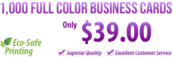 1000 Full Color Business Cards $39