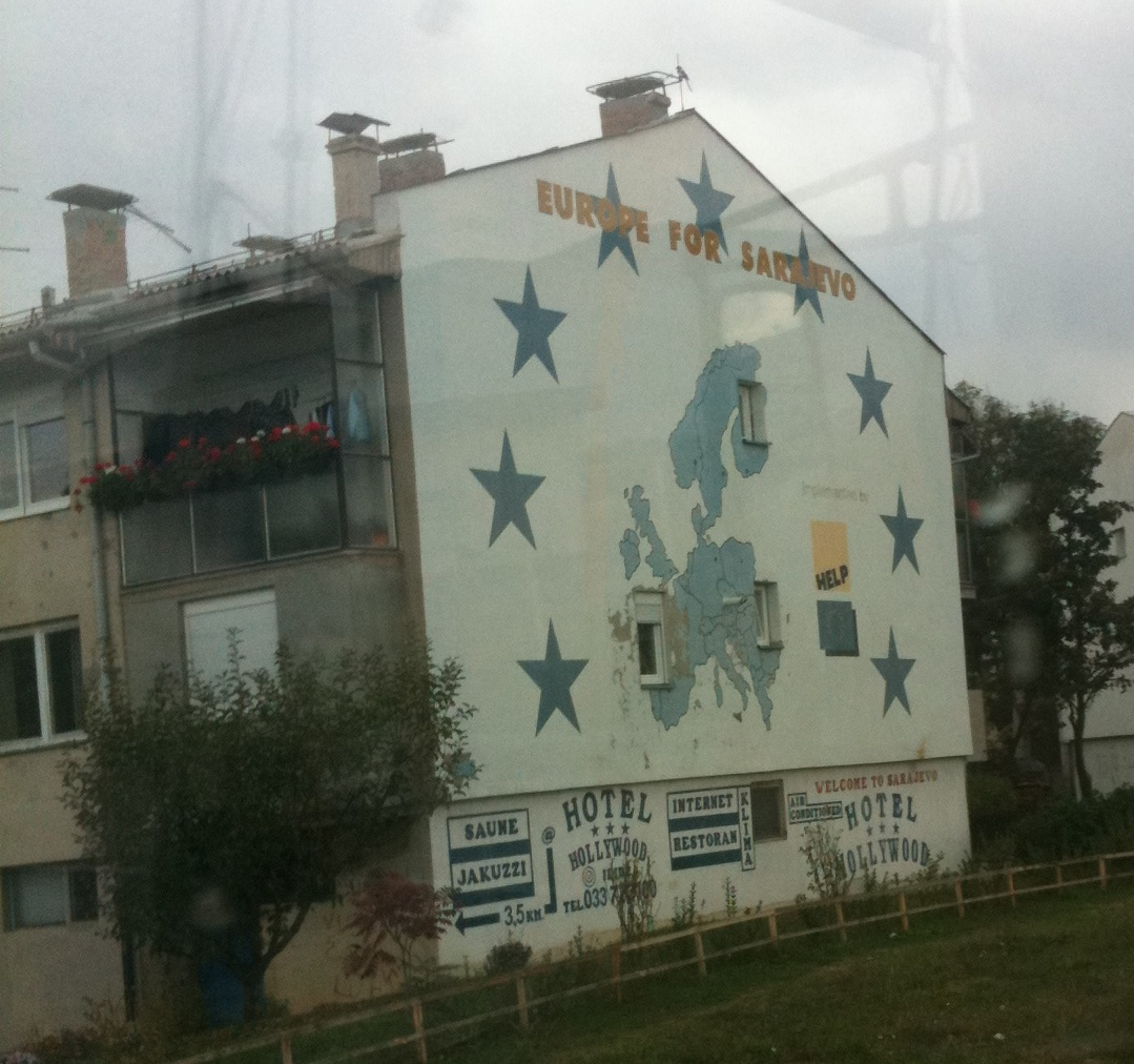 Europe for Sarajevo mural - something I had underestimated before the visit.