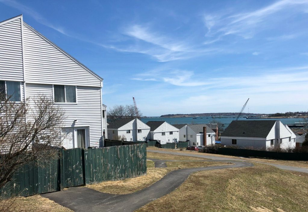 Munjoy South is a community of 140 affordable townhouse apartments overlooking Portland Harbor and Casco Bay. Photo by Randy Billings