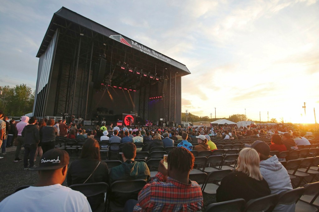 Opening night Sunday at Maine Savings Pavilion at Rock Row brought Anderson .Paak to the stage. It also prompted noise complaints from miles around.