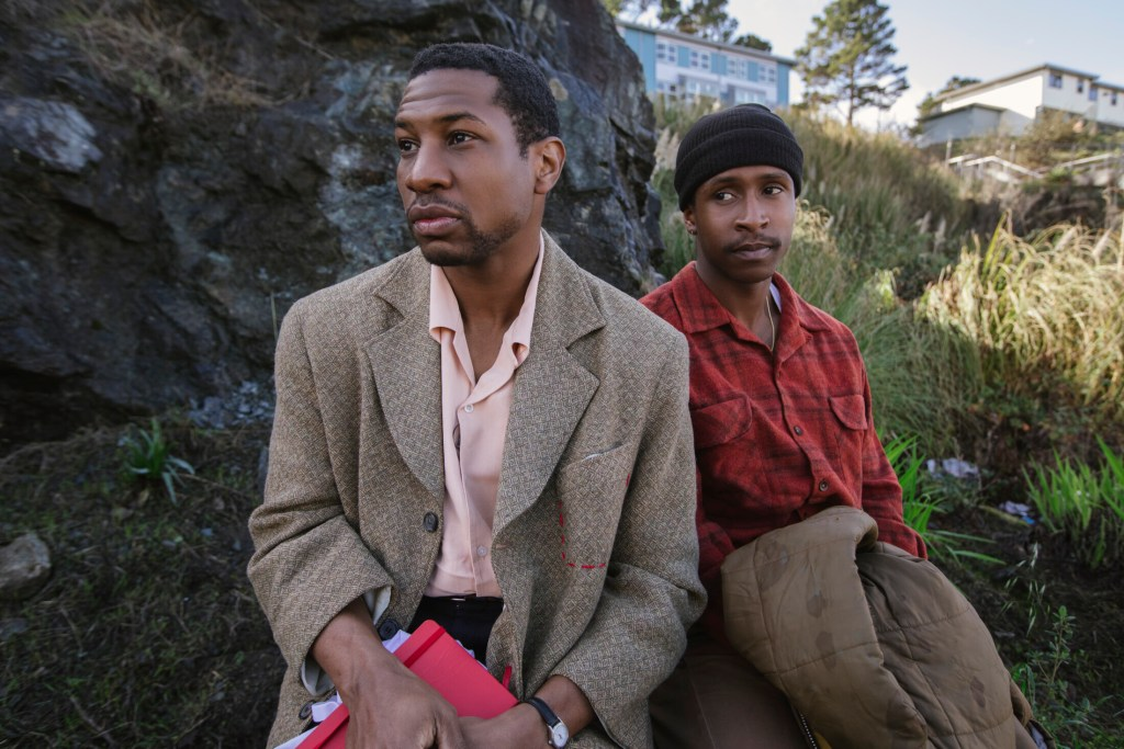 "Jonathan Majors stars as Montgomery Allen and Jimmie Fails as Jimmie Fails in ""The Last Black Man in San Francisco."""