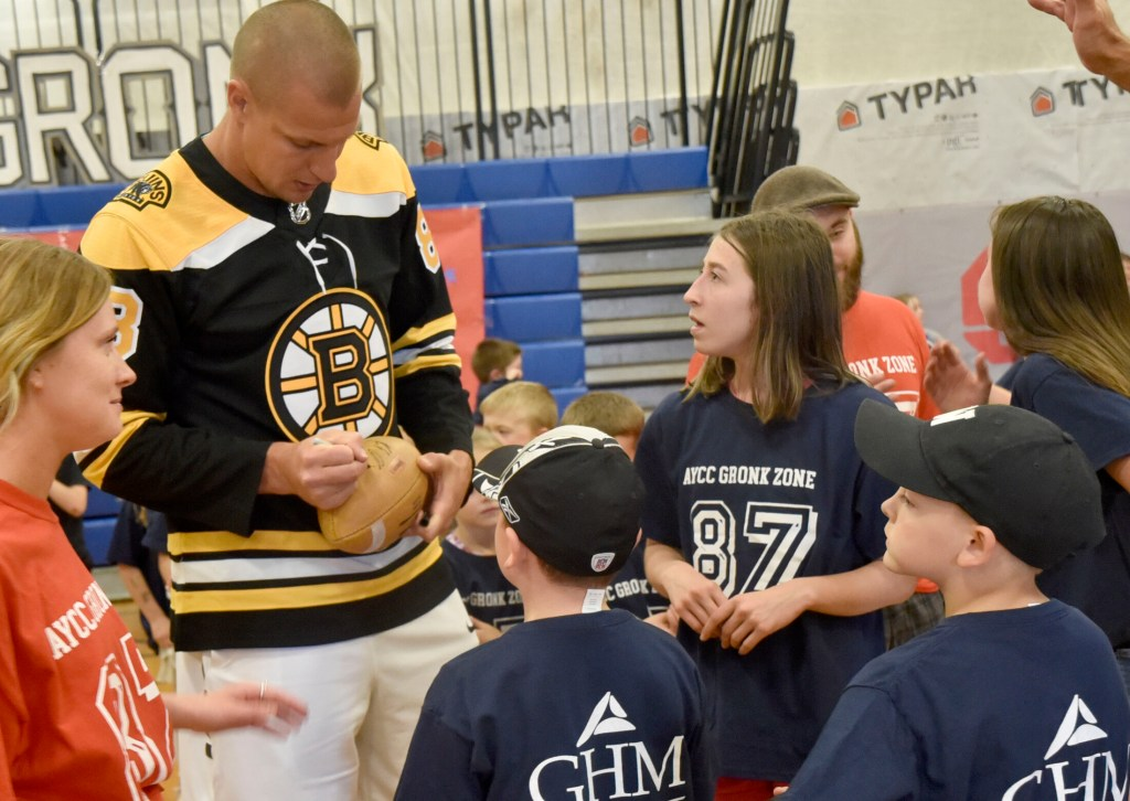 Waterville Youth Get Gronked With Visit From Retired