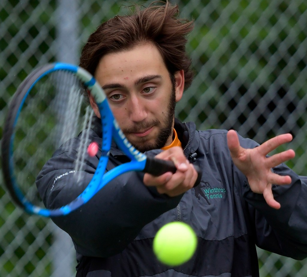 Winthrop's Jared McLaughlin is the Kennebec Journal  Boys Tennis Player of the Year.
