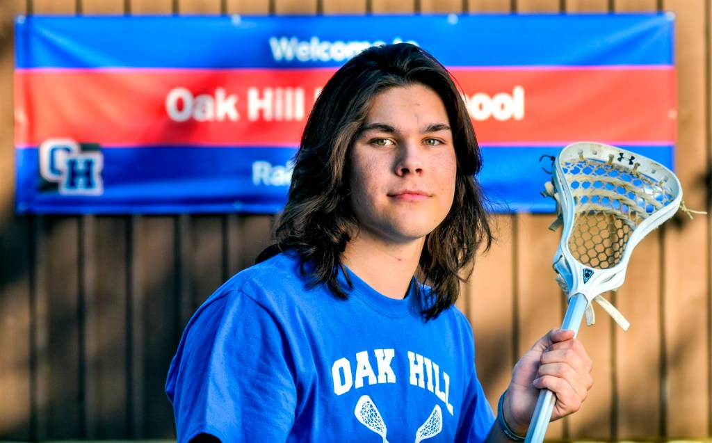 Oak Hill's Xavier Michaud is the Morning Sentinel and Kennebec Journal Lacrosse Player of the Year.