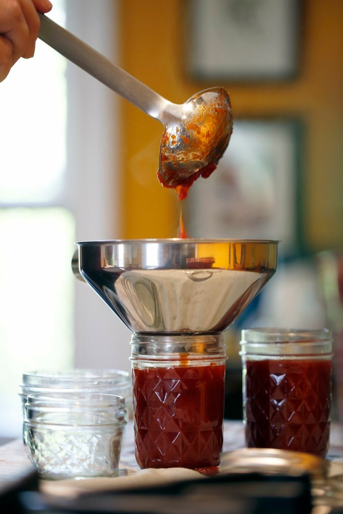 Making your own ketchup means one less single-use plastic bottle in your fridge.