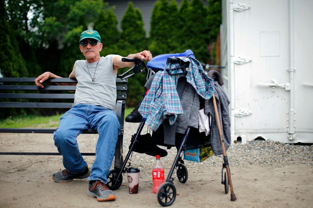 Daniel Tinkham, 59, has been staying at the Oxford Street Shelter for about 90 days. He doesn't think it will be that difficult for people to catch a bus into downtown from the Riverton site, but he does think wooded areas nearby will attract campers.