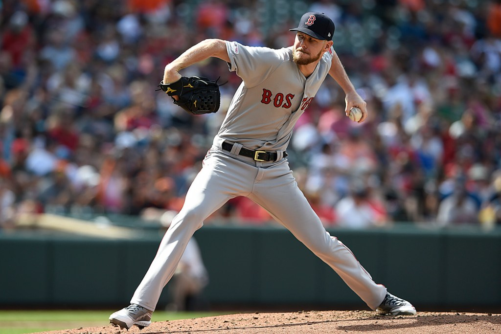 Boston's Chris Sale struck out 10 in six innings and the Red Sox beat the Baltimore Orioles 7-2 on Saturday in Baltimore.