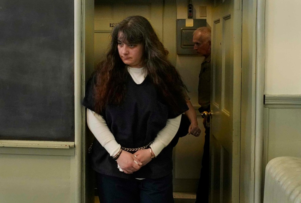 Shawna Gatto enters Lincoln County Superior Court on Tuesday for sentencing in the death of Kendall Chick.