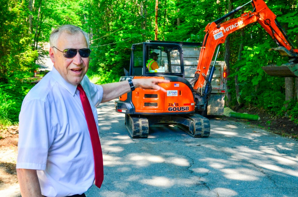 Monmouth Town Manager Curt Lunt poses for a portrait July 3 in Monmouth. Lunt will be retiring from his job with the town in October.