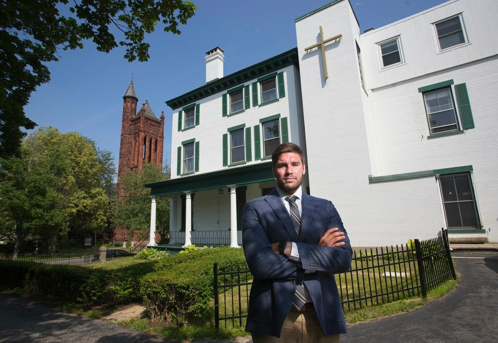 Josh Soley plans to convert a former monastery on State Street in Portland's West End into affordable housing units.