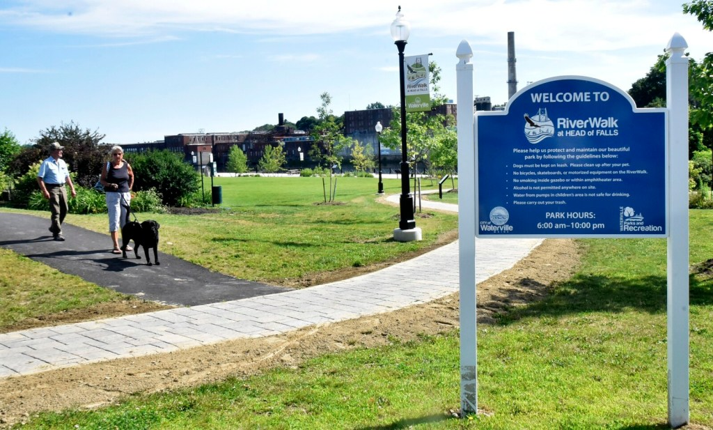 The Riverwalk at Head of Falls in Waterville will be transformed this weekend into a bike village for 450 riders who will start out on Saturday and finish a seven-day trek around midcoast Maine the following weekend.