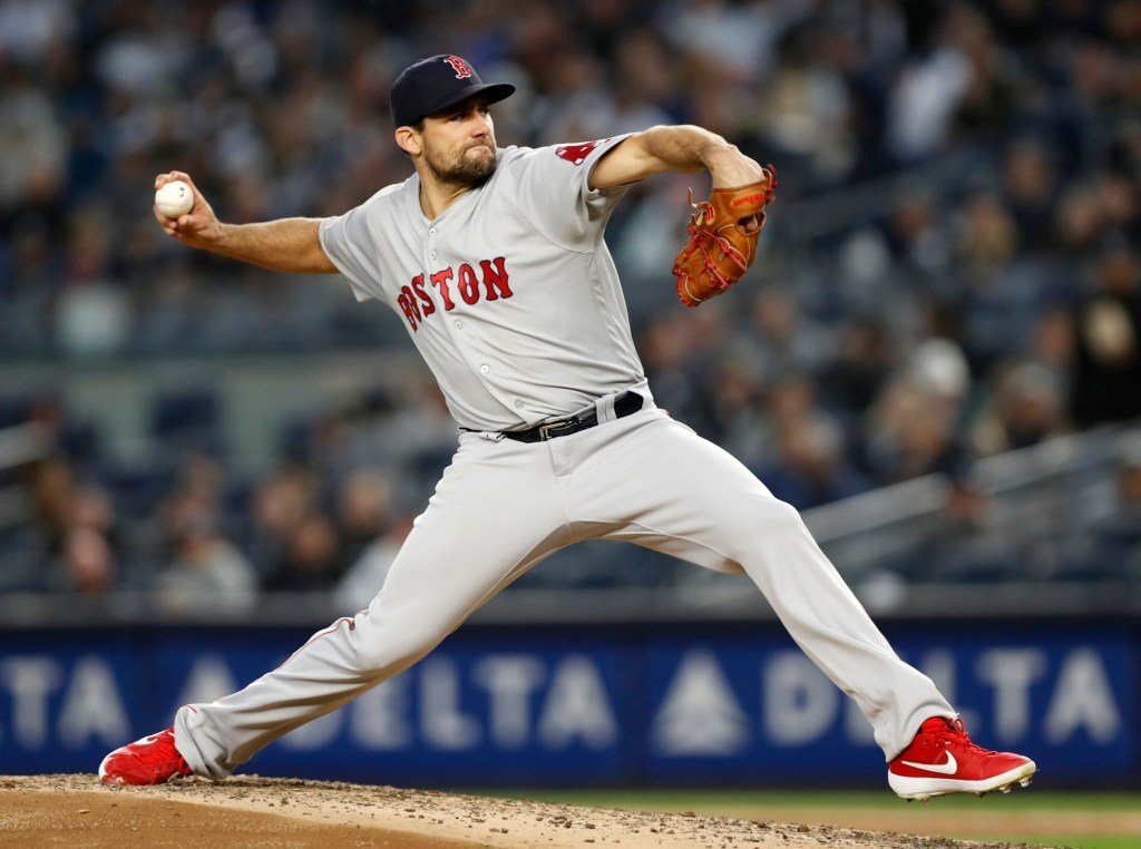 The Red Sox will have pitcher Nathan Eovaldi pitch out of the bullpen when he returns from the injured list, so they could be on the market for a starting pitcher.