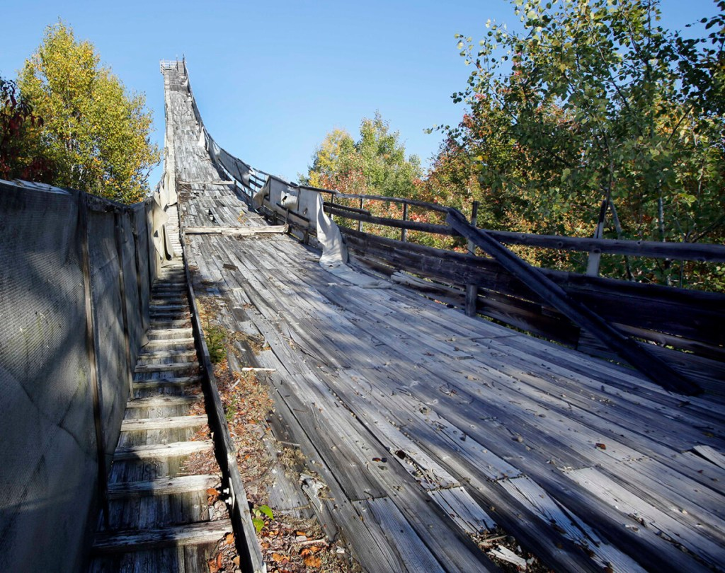 The in-run of the Nansen Ski jump in Milan, N.H. photographed in 2014.