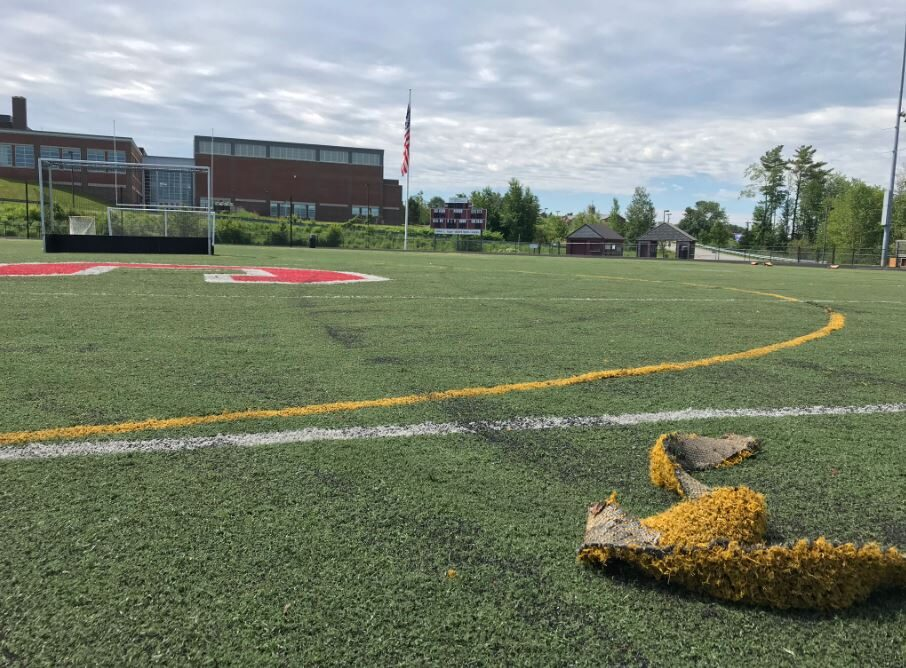 The Scarborough High School athletic field was reopened July 10, more than a week after someone drove onto the turf and caused significant damage.
