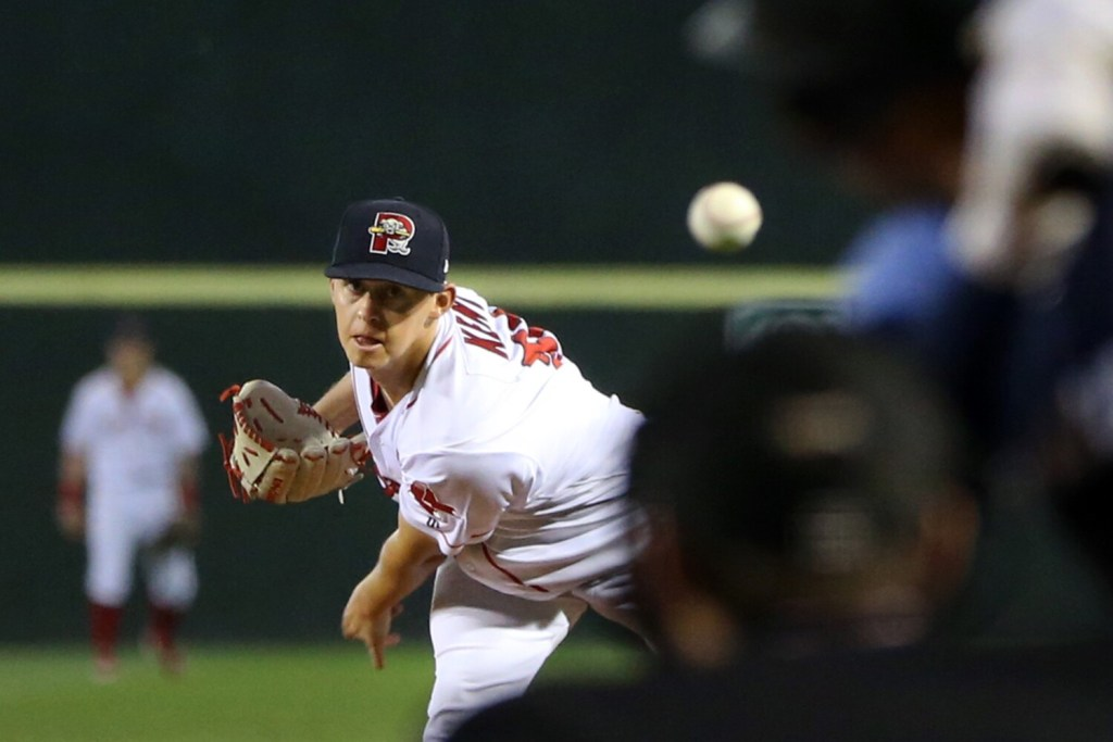 Sea Dogs starter Matthew Kent struck out a career high 11, but didn't get a decision Friday night as Trenton scored twice in the eighth for a 4-2 win.