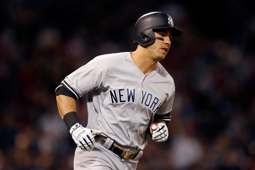 Mike Tauchman was placed on the injured list with a strained calf, becoming the 30th player the Yankees have placed on the injured list this season.