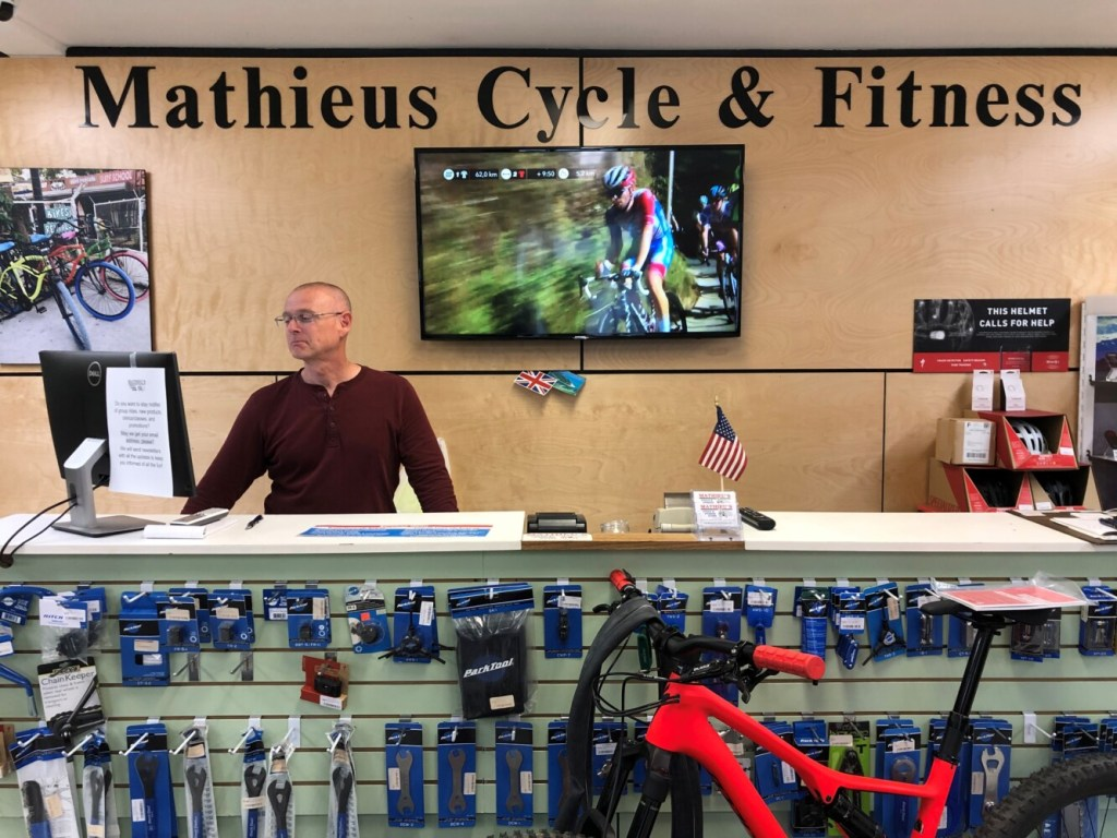 Dave Houston, who works at Mathieu's Cycle & Fitness Store at 20 Main St., said that the business relies on good internet for essential services.