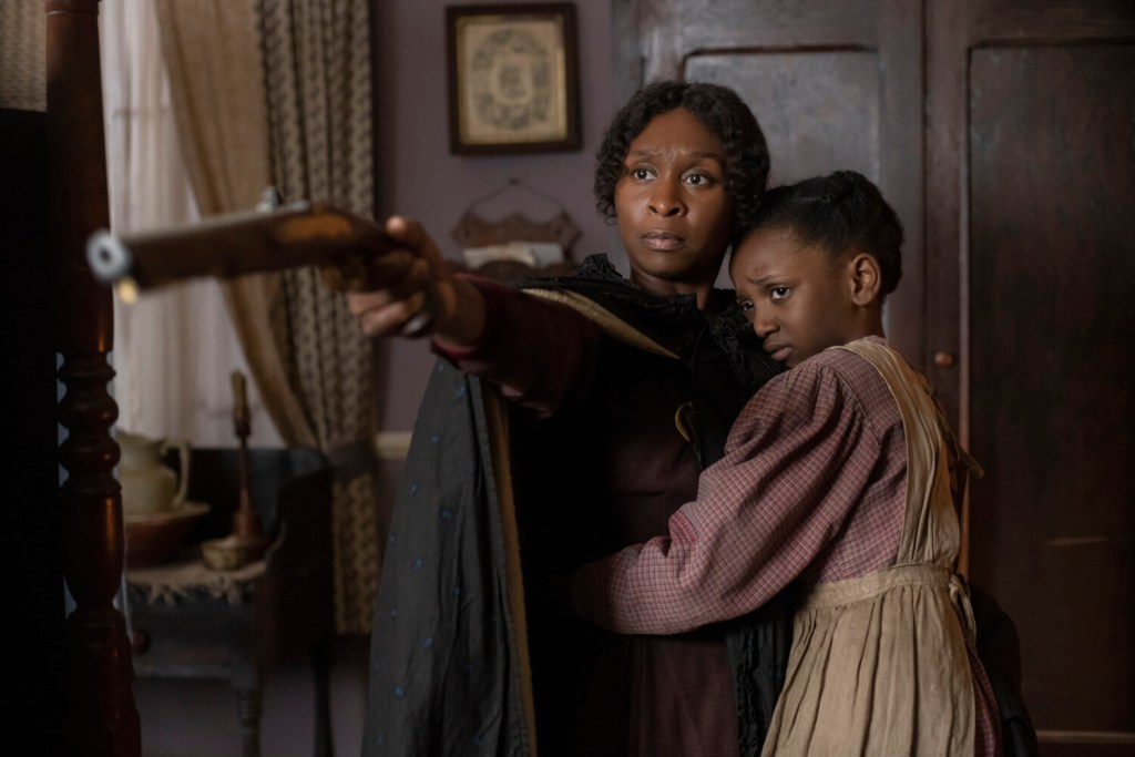 """Cynthia Erivo, left, stars as Harriet Tubman and Aria Brooks as Anger (age 8) in """"Harriet,"""" a Focus Features release."""