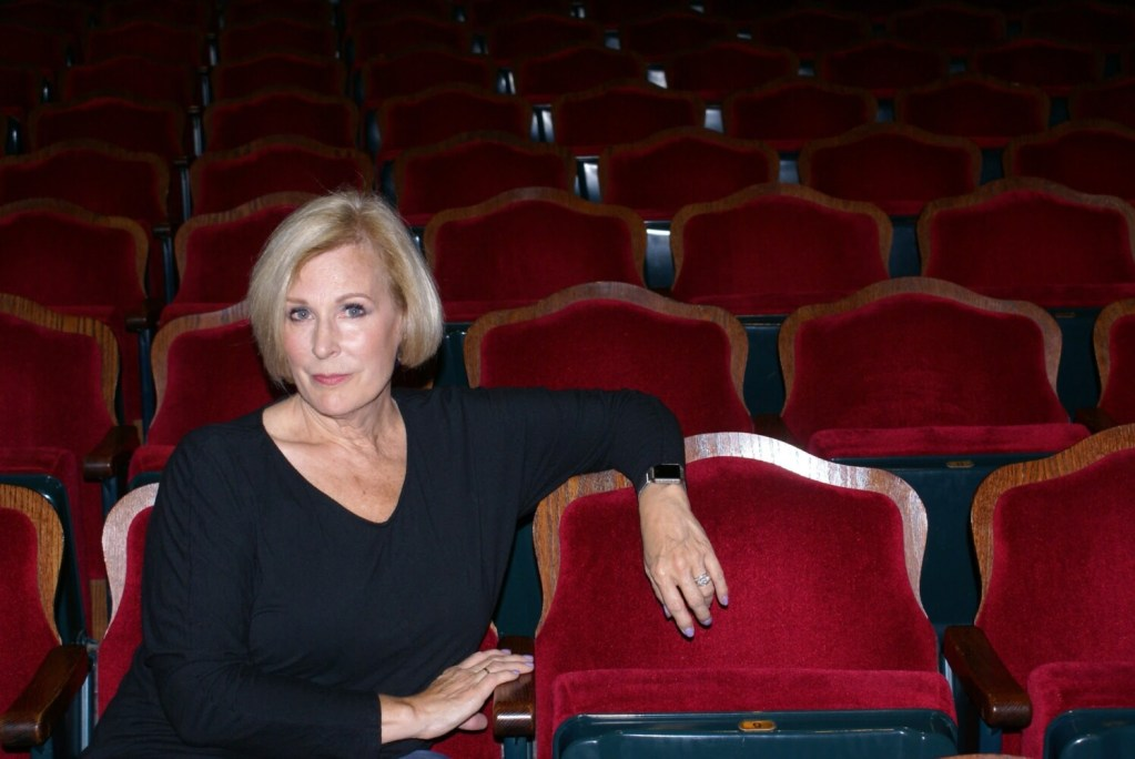 Debra Susi in the Waterville Opera House.