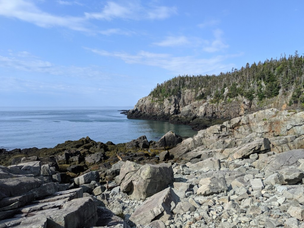 On the Coastal Trail, you'll pass the aptly named High Ledge.