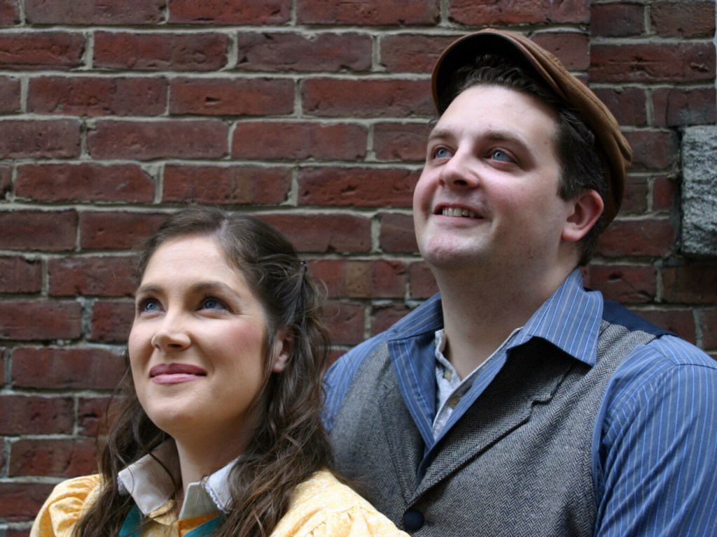 "Local actors Jessica Lake, left, and Tony Gerow will play Katherine Plummer and Jack Kelly ""Newsie's."""