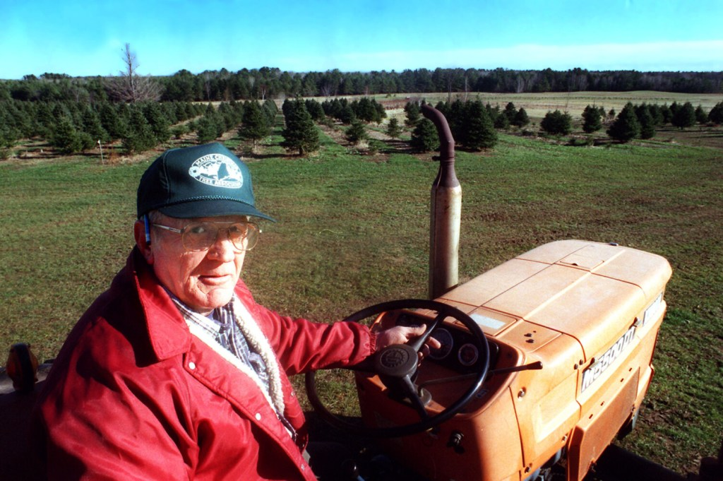 Quinton Hanna is accused of killing Jim Pearson of Scarborough, seen on his tractor at his Beech Ridge Farm in November 1999.