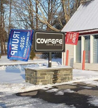 A pro-Trump coffee and gift shop is planned for 325 Old County Road in Rockland.