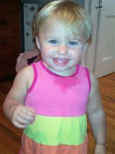 FILE - This undated file photo obtained from a Facebook page shows toddler Ayla Reynolds, missing in Waterville, Maine. Reynolds was reported missing on Dec. 17, 2011 from the Waterville, Maine home of her father Justin DiPietro. With the reward expiring and the victim believed to be dead, the family is trying to move on despite not knowing what happened to the missing toddler. (AP Photo/obtained from Facebook, File)