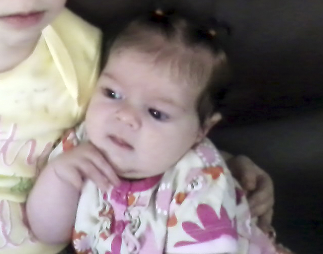 An undated photo provided by Nicole Greenaway shows her 3-month-old daughter, Brooklyn Foss-Greenaway, of Clinton, Maine, who died while in a babysitter's care on July 8, 2012.