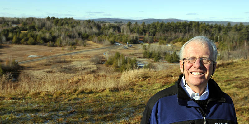 HAPPY TRAILS: Attorney Mike Seitzinger is being recognized by the Chamber of Commerce for his volunteer work at erecting the new YMCA and Bond Brook trail network in Augusta.
