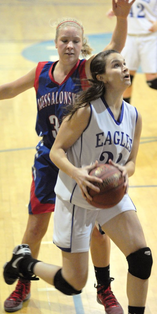 SHINING BRIGHTLY: Erskine's Bridget Humphrey is one of the top players in central Maine, averaging 16.4 points, 9.3 rebounds and 3.8 steals per game for the Eagles.