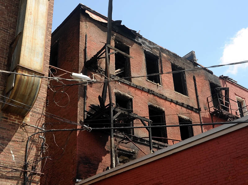 Two Silver Street buildings were damaged in a recent fire.