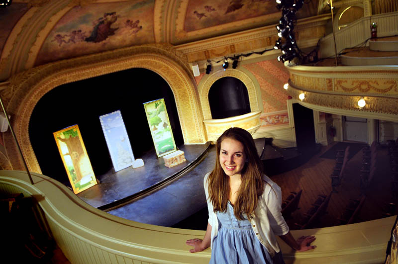 Hannah Daly will be a performance intern with the Theater at Monmouth. Daly, 19, of Portland, a junior at Syracuse University, was photographed at Cumston Hall on Friday in Monmouth.